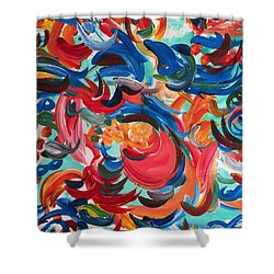 Party Portal Shower Curtain