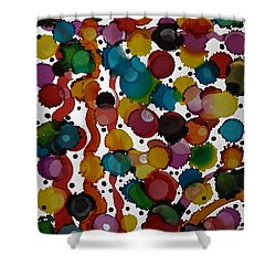 Party Time Shower Curtain by Alika Kumar