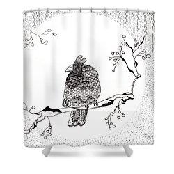 Party Time In Birdville Shower Curtain