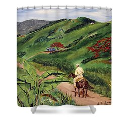 Paseo Por El Campo Shower Curtain