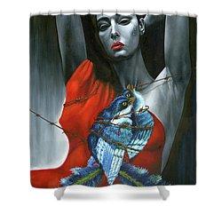 Pasion Por La Costumbre Shower Curtain by Jorge L Martinez Camilleri