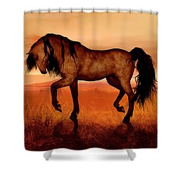 Shower Curtain featuring the painting Paso Fino by Valerie Anne Kelly