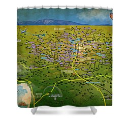 Paso Robles East Side / West Side Wine Tasting Shower Curtain by Cindy Anderson
