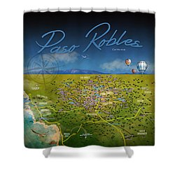 Paso Robles Wine Tasting Shower Curtain by Cindy Anderson