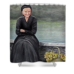 Pasqualina Di Scanno Shower Curtain by Judy Kirouac