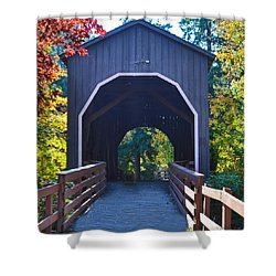 Pass Creek Covered Bridge Shower Curtain