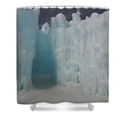 Passageway In The Ice Castle Shower Curtain