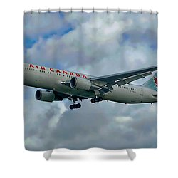 Passenger Jet Plane Shower Curtain