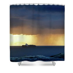 Passing By Shower Curtain