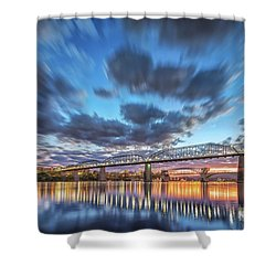 Passing Clouds Above Chattanooga Shower Curtain
