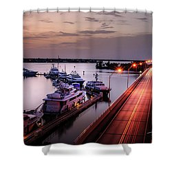 Passing Lights Shower Curtain