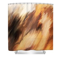 Passing Through Shower Curtain by Rona Black