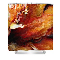 Passion - Abstract Art - Triptych 3 Of 3 Shower Curtain