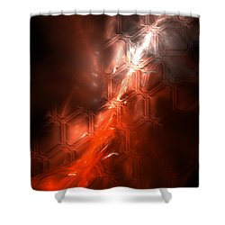 Shower Curtain featuring the digital art Passion by Arlene Sundby