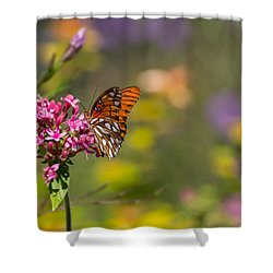 Shower Curtain featuring the photograph Passion Butterfly  by Julie Andel