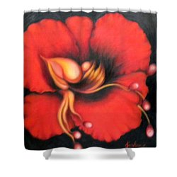 Passion Flower Shower Curtain by Jordana Sands