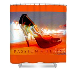 Shower Curtain featuring the photograph Passion For Heels by Don Pedro De Gracia