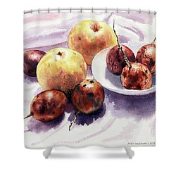 Passion Fruits And Pears 2 Shower Curtain