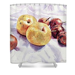 Passion Fruits And Pears Shower Curtain