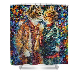 Passion Of The Cats  Shower Curtain by leonid Afremov