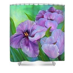Passionate Tulips Shower Curtain