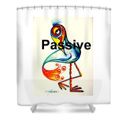 Passive Taino Bird Shower Curtain