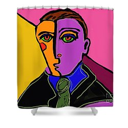 Passport Photo Shower Curtain