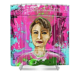 Passport Photo Shower Curtain by Sladjana Lazarevic