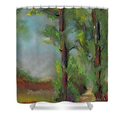 Past Friends Shower Curtain by Frances Marino