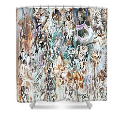 Past Life Trauma Inverted Shower Curtain