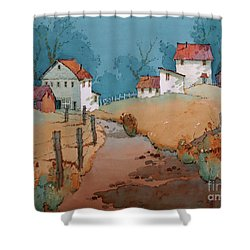 Past Perfect Shower Curtain
