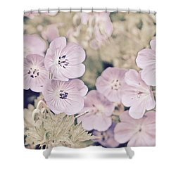 Pastel Blooms Shower Curtain by Tim Good