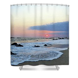 Shower Curtain featuring the photograph Pastel Blue by Victor K