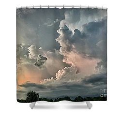 Pastel Clouds Shower Curtain