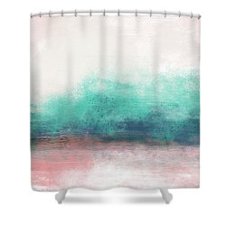 Pastel Coastal Escape-  Art By Linda Woods Shower Curtain
