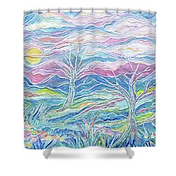 Pastel Country Shower Curtain