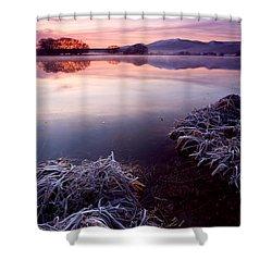 Pastel Dawn Shower Curtain by Mike  Dawson