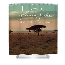 Shower Curtain featuring the photograph Pastel Dawn On The Mara by Karen Lewis