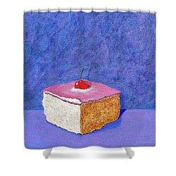 Pastel De Color Rosa Mexicano Shower Curtain