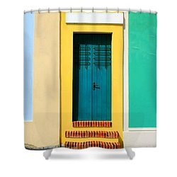 Pastel Doorway Shower Curtain by Perry Webster