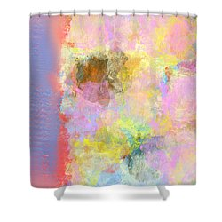 Pastel Flower Shower Curtain by Jessica Wright