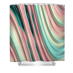 Shower Curtain featuring the photograph Pastel Fractal 2 by Bonnie Bruno