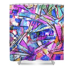 Pastel Kaleidoscope Shower Curtain