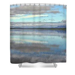 Pastel Landscape Shower Curtain
