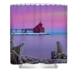 Pastel Lighthouse Shower Curtain