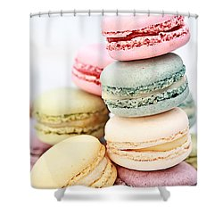 Pastel Macarons Shower Curtain