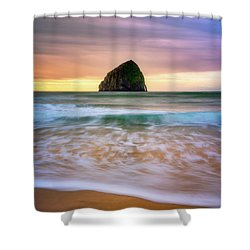 Shower Curtain featuring the photograph Pastel Morning At Kiwanda by Darren White