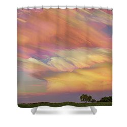 Shower Curtain featuring the photograph Pastel Painted Big Country Sky by James BO Insogna