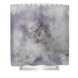 Pastel Pansies Still Life Shower Curtain