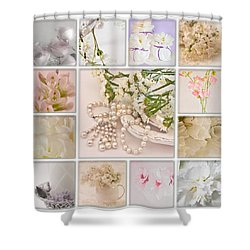 Pastel Photo Collage  Shower Curtain by Sandra Foster